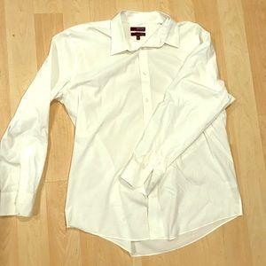 Men's slim fit white button down nwot